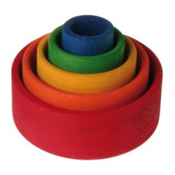 Grimms - runde stabelkasser - klassiske farver