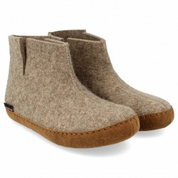 Haflinger - unisex hjemmesko i uld - Emils Choice - sand