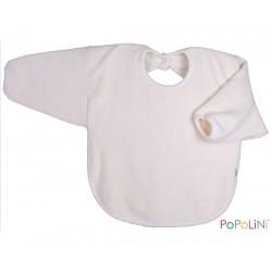 Popolini - hagesmæk - forklæde med ærmer - natur