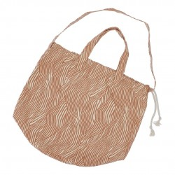 Haps Nordic - stor taske - shopping bag - terracotta wave