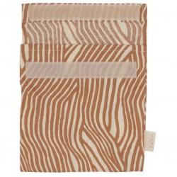 Haps Nordic - sandwich bag - warm terracotta wave