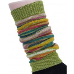 Hirsch - benvarmere - børn - grønstribet