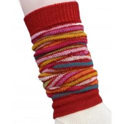 Hirsch - benvarmere - børn - rødstribet