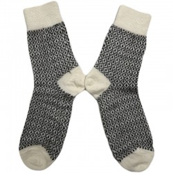 Hirsch - fintstrikkede uld-strømper - unisex - natur/brun