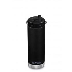Klean Kanteen - TKWIDE- termoflaske 473 ml. - twist cap - black