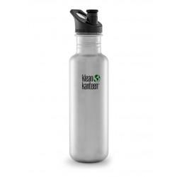 Klean Kanteen - 800 ml. - børstet stål - sportscap