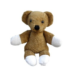 Kallisto - økologisk bamse - klassisk brun bjørn - 28 cm.