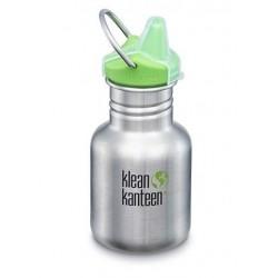 Klean Kanteen - 355 ml. drikkedunk - børstet stål - sippy cap