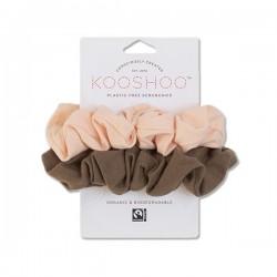 Kooshoo - økologiske hår scrunchie - fersken & valnød