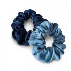 Kooshoo - økologiske hår scrunchie - lys & mørk blå