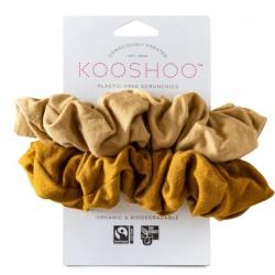 Kooshoo - økologiske hår scrunchie - gylden & sand