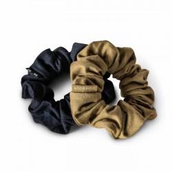 Kooshoo - økologiske hår scrunchie - sort & oliven