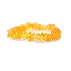 Rav armbånd - voksen - chips - lemon - 18 cm.