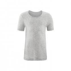 Living Crafts - kortærmet t-shirt - GOTS bomuld - grå melange