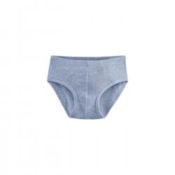Living Crafts - underbukser - GOTS bomuld - blå melange