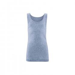 Living Crafts - unisex undertrøje - GOTS bomuld - blå melange
