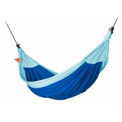 Hængekøje til børn incl. monteringssæt - økologisk bomuld - blå