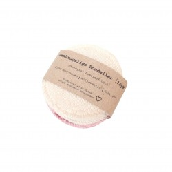 Pargaard - genbrugelige øko-bomuldsrondeller - 10 stk. - natur & rosa
