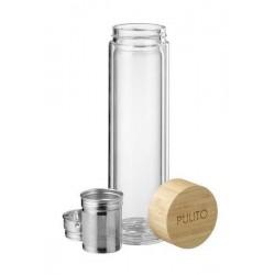 Pulito - glas termoflaske med tesi - 500 ml.