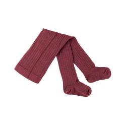 Pure Pure - strømpebukser - 80 % uld & bomuld - GOTS - bordeaux