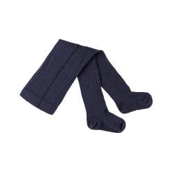 Pure Pure - strømpebukser - 80 % uld & bomuld - GOTS - marine