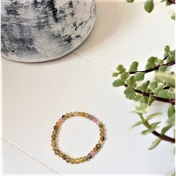 rav armbånd - voksen - rav/månesten/quartz/labradorit - 18 cm.