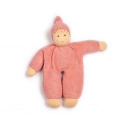 Nanchen - dukke 24 cm. - støvet rosa