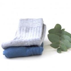 Snork Copenhagen - strømper 2-pak - grå & støvet blå