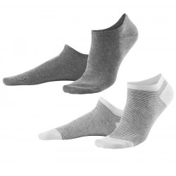 Living Crafts - 2-pak sneakers strømper - grå og gråstribede