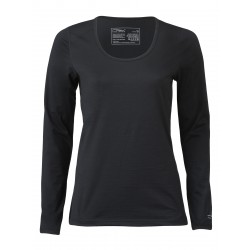 Engel Sports - dame - langærmet t-shirt - regular fit - sort